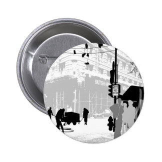 Abstract Everyday City Life Pinback Button