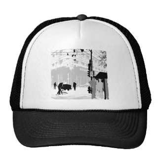 Abstract Everyday City Life Trucker Hat