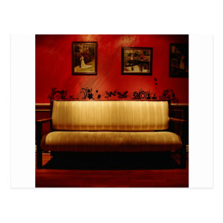 Abstract Everyday Fine Artistic Sofa Postcard