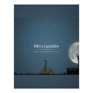 Abstract Everyday Night Time Capitalism Personalized Letterhead