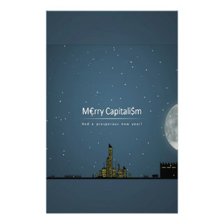 Abstract Everyday Night Time Capitalism Stationery Design