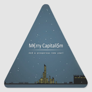 Abstract Everyday Night Time Capitalism Triangle Sticker