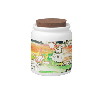 Abstract Everyday Splash Paint Candy Jars