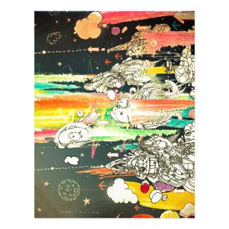Abstract Everyday Splash Paint Custom Letterhead