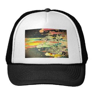 abstract everyday splash paint trucker hat