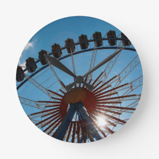 Abstract Everyday Wheel Of Fortune Round Wall Clocks