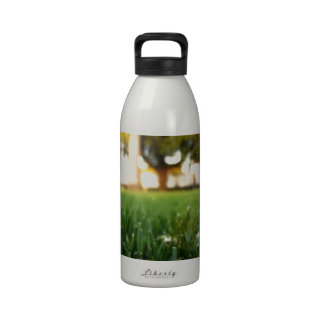 Abstract Everyday White Feather Water Bottles
