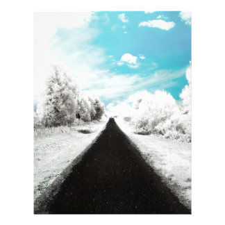 Abstract Everyday Winter Roads Personalized Letterhead