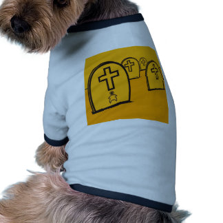 Abstract Everyday Yellow Grave Stones Dog Clothes