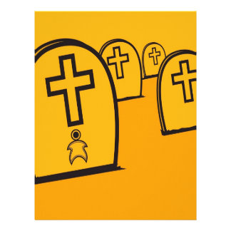 Abstract Everyday Yellow Grave Stones Letterhead Design