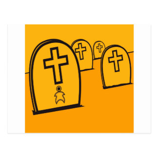 Abstract Everyday Yellow Grave Stones Postcard