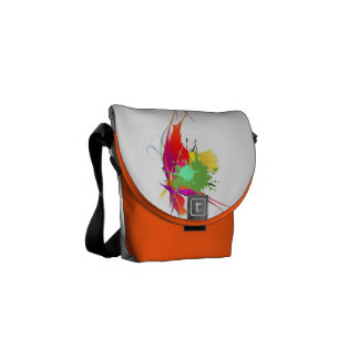 Abstract Exotic Butterfly 2 Paint Splatters Commuter Bag