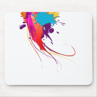 Abstract Exotic Butterfly Paint Splatters Mouse Pad