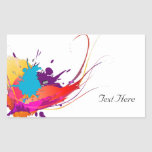 Abstract Exotic Butterfly Paint Splatters Rectangle Sticker
