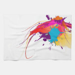 Abstract Exotic Butterfly Paint Splatters Towels