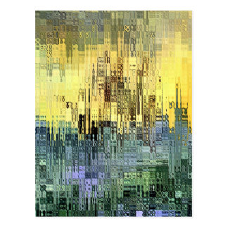 Abstract expression by rafi talby postcard