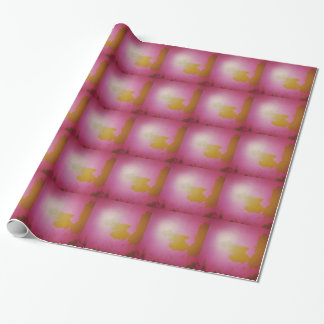Abstract Expression painted in Deprivation Wrapping Paper