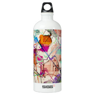 Abstract Expressionism 1 Aluminum Water Bottle
