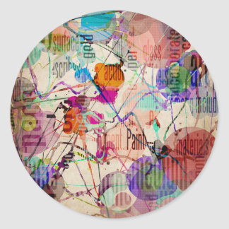 Abstract Expressionism 1 Classic Round Sticker
