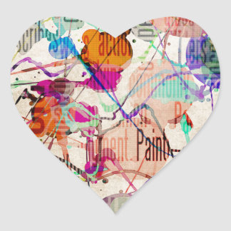 Abstract Expressionism 1 Heart Sticker