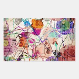 Abstract Expressionism 1 Rectangular Sticker