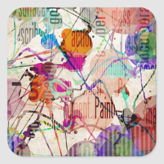 Abstract Expressionism 1 Square Sticker
