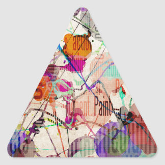 Abstract Expressionism 1 Triangle Sticker