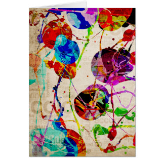 Abstract Expressionism 2 Card
