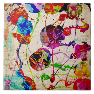 Abstract Expressionism 2 Ceramic Tile