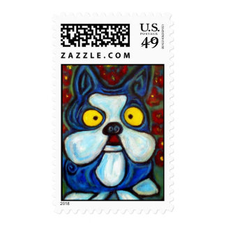 Abstract Expressionism Art Stamp