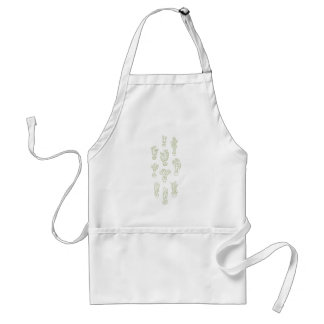 Abstract Expressionism Cactus Line Art Pattern Adult Apron