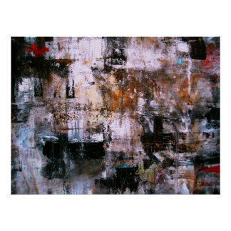 ABSTRACT EXPRESSIONISM MODERN ART PAINTING POSTER