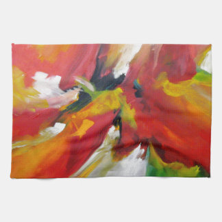 Abstract Expressionism Painting Hand Towel