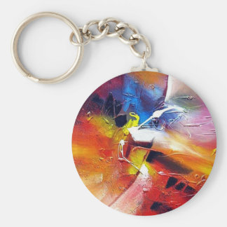 Abstract Expressionism Painting Keychain