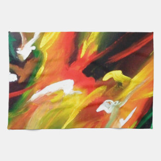 Abstract Expressionism Painting Towel