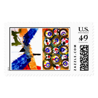 Abstract Expressionism Postage