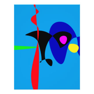 Abstract Expressionism Simple Digital Art Personalized Flyer