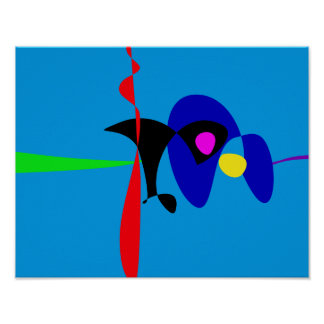 Abstract Expressionism Simple Digital Art Print