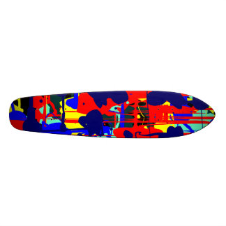 Abstract Expressionist 01 - Retro Skateboard Deck
