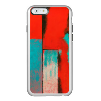 Abstract Expressionist Art Painting Red Turquoise Incipio Feather® Shine iPhone 6 Case
