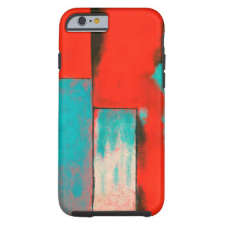 Abstract Expressionist Art Painting Red Turquoise Tough iPhone 6 Case