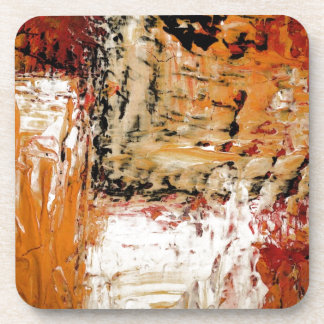 Abstract Expressionist Beverage Coaster