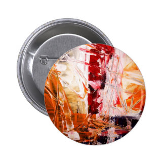 Abstract Expressionist Button
