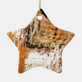 Abstract Expressionist Ceramic Ornament