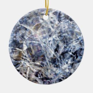 Abstract Expressionist Dance 3 Square Ceramic Ornament