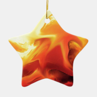 abstract expressionist fire change ceramic ornament