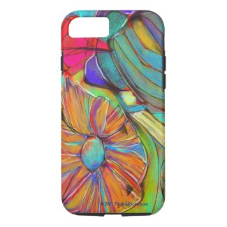 Abstract EXPRESSIONIST Flower iPhone 8/7 Case