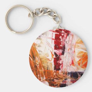 Abstract Expressionist Keychain