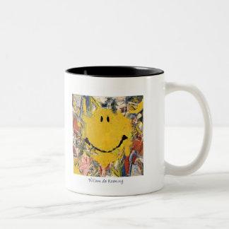 abstract expressionist mug