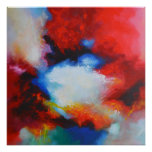 Abstract Expressionist Painting by Serdar Hizli Poster